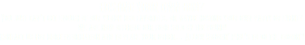 HOSTING YOUR OWN BBQ? You just can't get enough of our yummy bbq favorites, or maybe hosting your own party or event? We are now offering our food sold by the pound! Contact us for more information and to place your order… Allow Smokin' Phil's to do the cookin'!